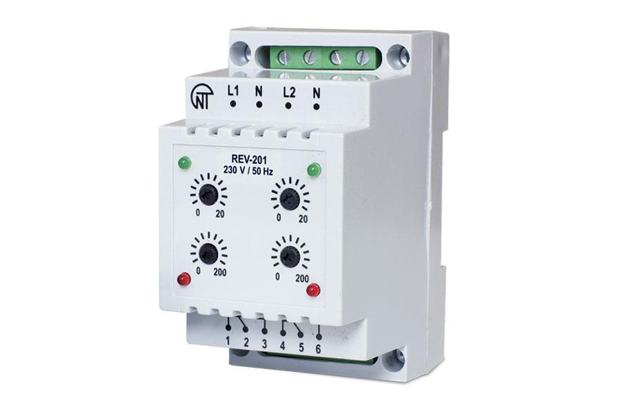 REV-201 two-channel timing relay, фото