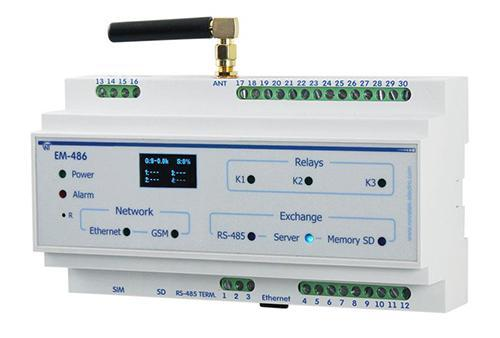 CONTROLLER OF SMS ALERT FOR MODBUS-EQUIPMENT ЕМ-486 FAILURE, фото