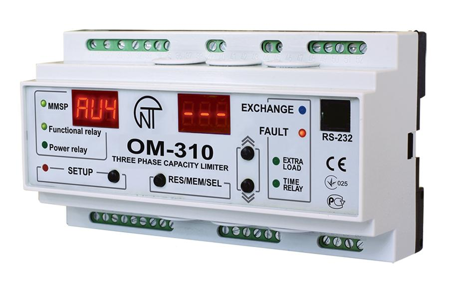 Trójfazowy ogranicznik mocy OM-310, фото
