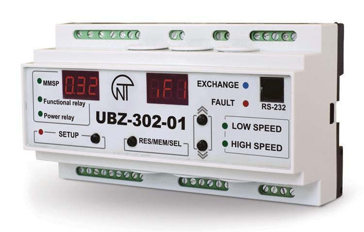 Moduł zabezpieczenia silników asynchronicznych UBZ-302-01, фото
