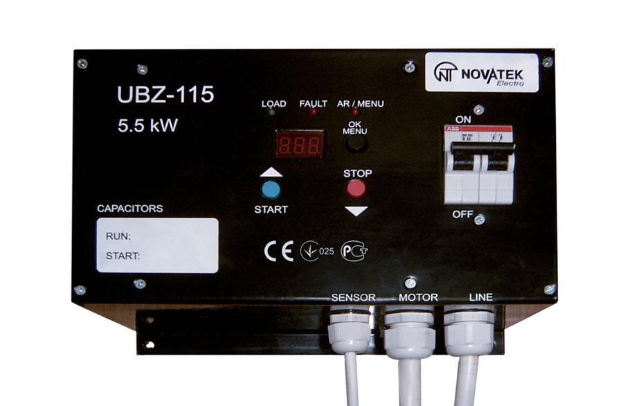 Moduł zabezpieczeń silników jednofazowych asynchronicznych UBZ-115 (do 5,5 kW), фото