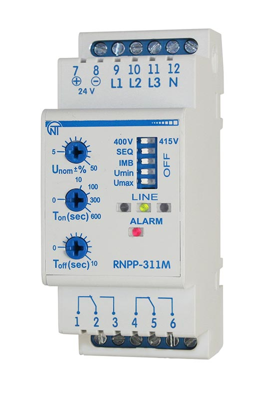 Трифазне реле напруги і контролю фаз РНПП-311M, фото