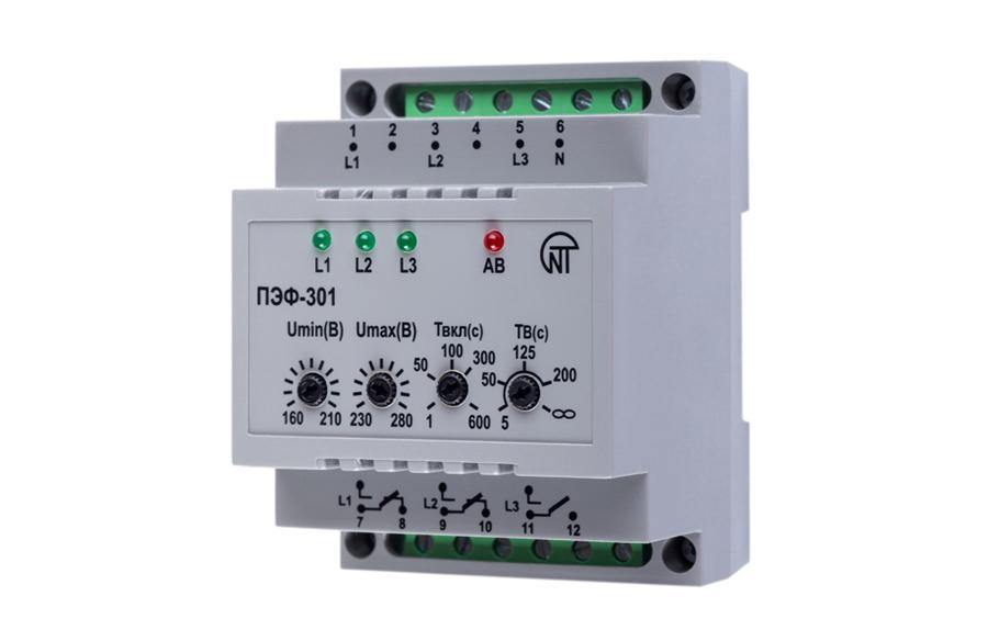 Електронний перемикач фаз ПЭФ-301, фото
