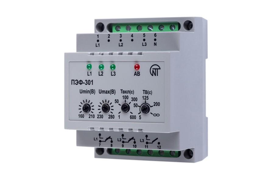 Электронный переключатель фаз ПЭФ-301, фото