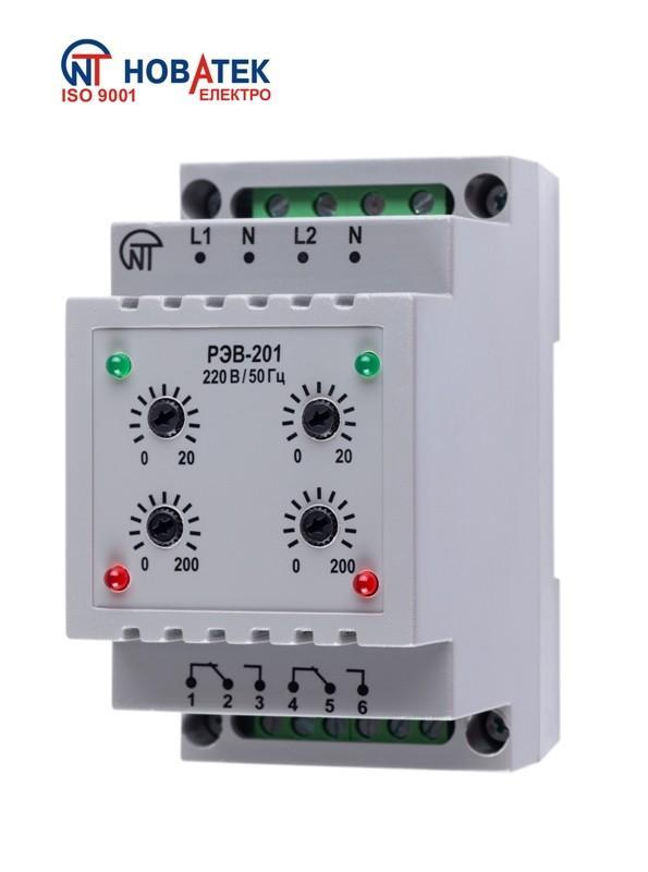 Двухканальное реле времени РЭВ-201
