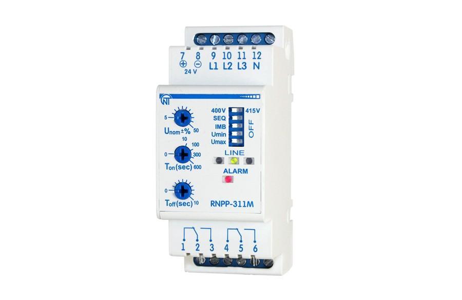 Трехфазное реле напряжения и контроля фаз РНПП-311M, фото