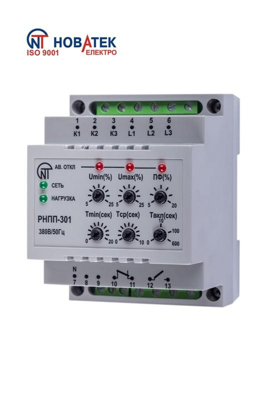 Трехфазное реле напряжения и контроля фаз РНПП-301, ����