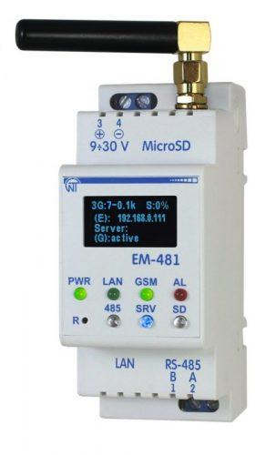 Контроллер web-доступа к управлению  Modbus - оборудованием ем-481, ����