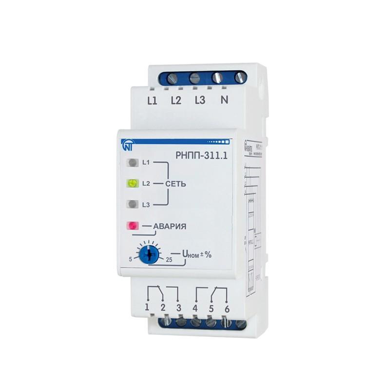 Реле напряжения, перекоса и последовательности фаз РНПП-311.1