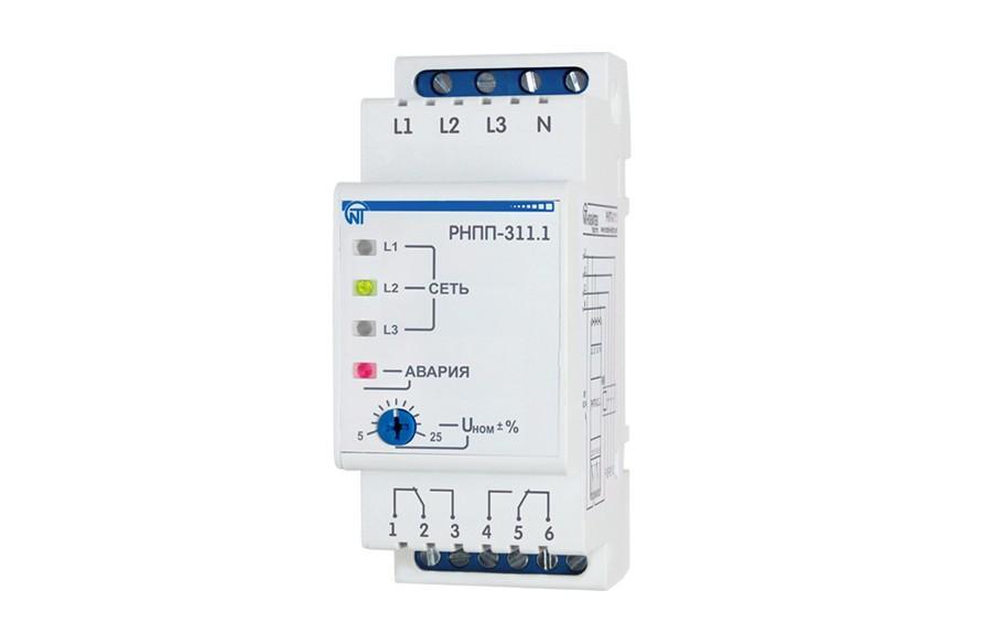 Реле напряжения, перекоса и последовательности фаз RNPP-311.1, ����