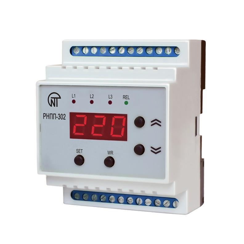 Трехфазное реле напряжения и контроля фаз РНПП-302