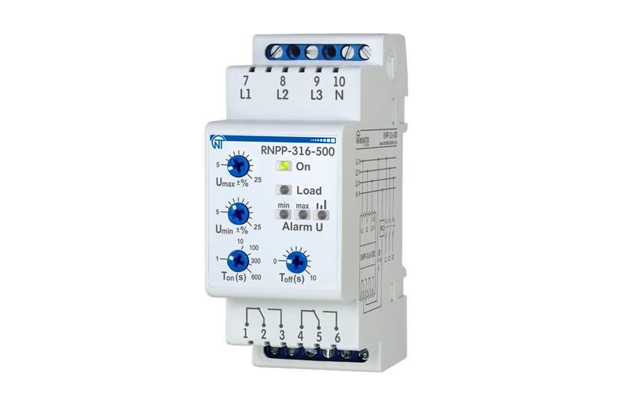Трехфазное реле напряжения и контроля фаз РНПП-316-500, ����