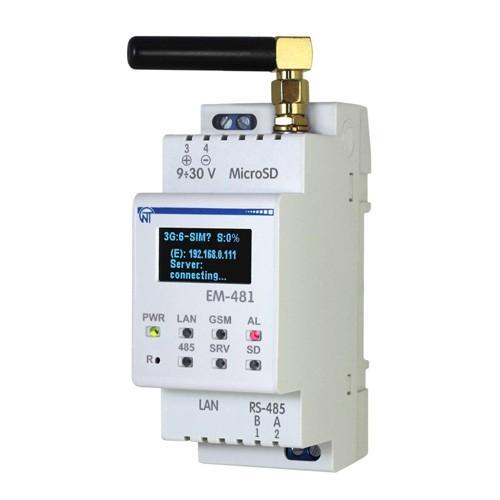 Контроллер web-доступа к управлению Modbus - оборудованием ем-481