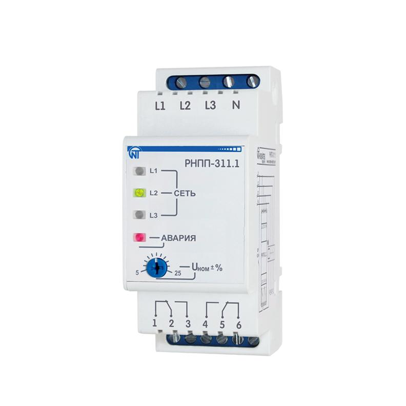 Реле напруги, перекосу і послідовності фаз RNPP-311.1