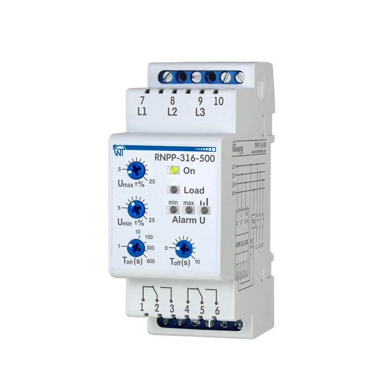 Трифазне реле напруги і контролю фаз РНПП-316-500